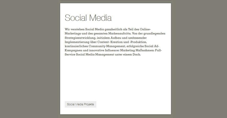 Die Social Media spezialisierte Werbeagentur