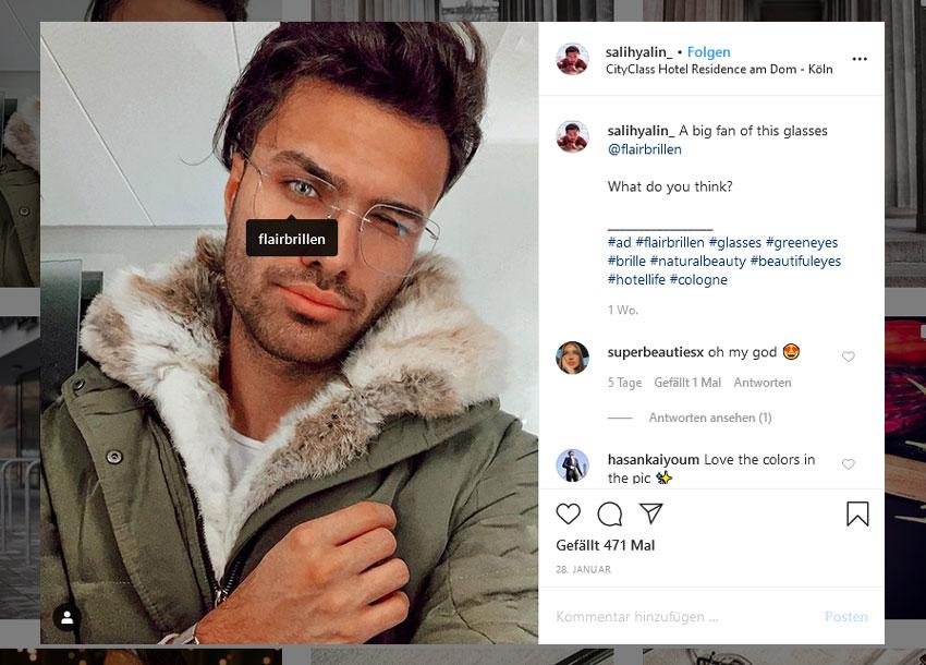 Instagram Influencer Werbung